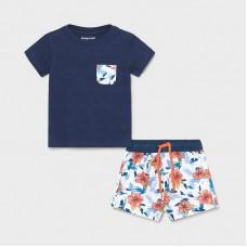 Пляжный комплект ( панама,шорты) Mayoral (Майорал) синий оттенок