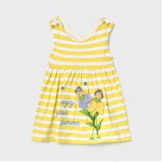 Платье в полоску для девочки Mayoral (Майорал) желтый оттенок