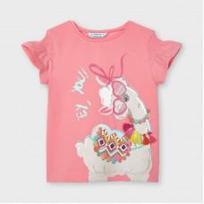 Футболка Mayoral (Майорал) для девочки  оттенок фламинго