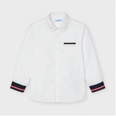 Рубашка с манжетами для мальчика Mayoral (Майорал) молочного оттенка