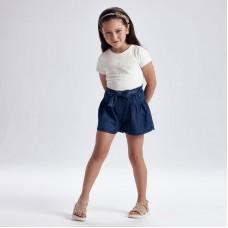 Юбка-шорты Mayoral (Майорал) для девочки синий оттенок