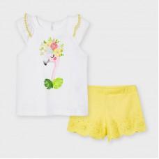 Комплект ( майка и шорты) Mayoral (Майорал) для девочки оттенок розовый