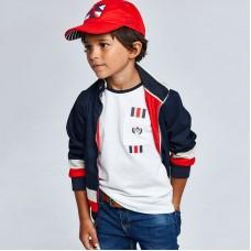 Двусторонняя ветровка для мальчика Mayoral (Майорал) красного оттенка