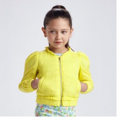 Мягкая ветровка для девочки ECOFRIENDS лимонного оттенка