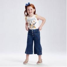 Кюлоты джинсовые  для девочки  Mayoral (Майорал)  синего оттенка