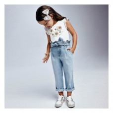 Джинсы для девочки Mayoral (Майорал) голубого оттенка