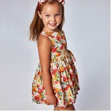 Платье Mayoral (Майорал) для девочки с фруктовым принтом