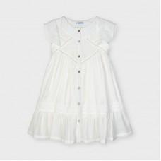 Кружевное платье для девочки Mayoral (Майорал) молочный оттенок