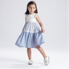 Комбинированное платье в полоску для девочки  Mayoral (Майорал)