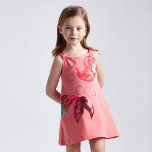 Платье с принтом для девочки Mayoral (Майорал) оттенок фламинго