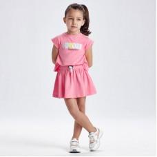 Трикотажное платье на девочку Mayoral (Майорал)  оттенок камелия
