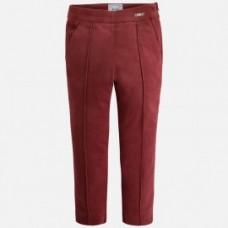 Велюровые брюки Mayoral (Майорал) для девочки бордового оттенка