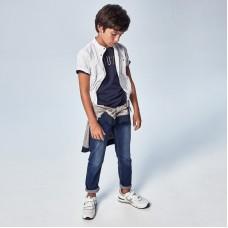 Джинсы на мальчика (Майорал) для мальчика синего оттенка
