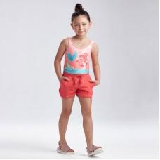 Базовые шорты-джоггеры для девочки Mayoral (Майорал) коралловый оттенок