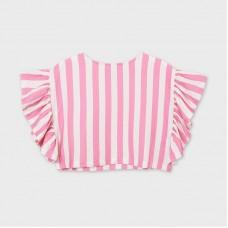 Блузка с воланами Mayoral (Майорал) для девочки полосатый принт