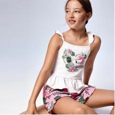 """Комплект """"ананас"""" Mayoral (Майорал) майка и шорты для девочки"""