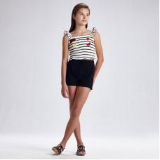 Комплект шорт и полосатого топа для девочки Mayoral (Майорал)