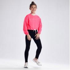 Лонгслив спортивный Mayoral(Майорал) для девочки розовый флюор