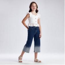 Джинсы-клеш на девочку Mayoral (Майорал) джинсового оттенка