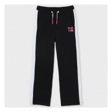 Спортивные штаны на девочку Mayoral (Майорал) черно-белый оттенок