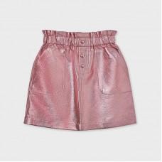 Юбка металлизированная на девочку  Mayoral (Майорал) розовый оттенок
