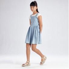 Платье Mayoral (Майорал) для девочки джинсового оттенка