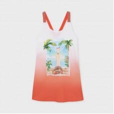 Платье Mayoral (Майорал) для девочки персикового оттенка