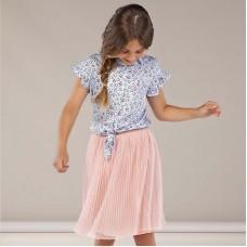 Плиссированная юбка на девочку Mayoral (Майорал) пудровій оттенок