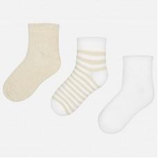 Практичный набор из трех пар носков до щиколоток для девочек