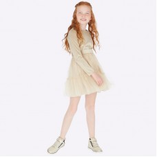 Платье на девочку Mayoral (Майорал) золотистого оттенка