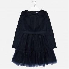 Платье на девочку Mayoral (Майорал) синего оттенка