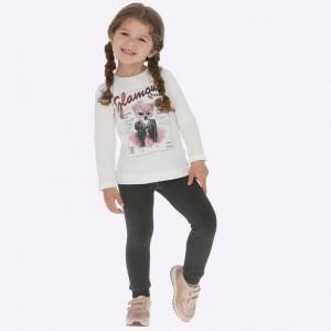 Леггинсы-гамаши  Mayoral (Майорал) для девочки серый оттенок