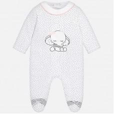 Пижама с длинным рукавом для новорожденной девочки