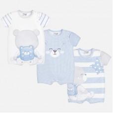 Набор из трех коротких пижам для новорожденного мальчика