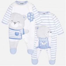Набор из двух пижам для новорожденного мальчика.