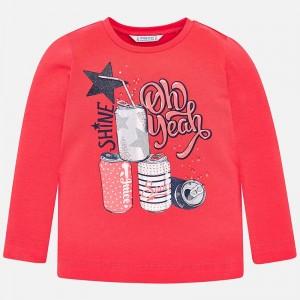 """Яркая футболка """"shine""""для девочки с длинным рукавом"""