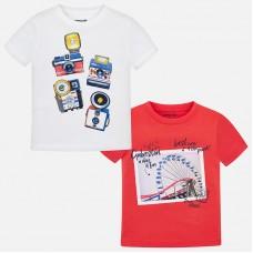 Комплект из двух футболок с короткими рукавами для детей