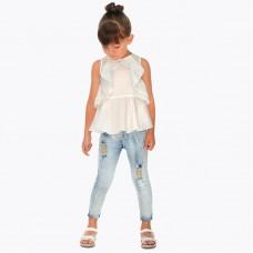 Длинные брюки для девочки узкого покроя Mayoral