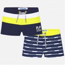 Полосатые короткие купальные шорты для мальчика