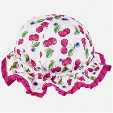 Двусторонняя шапочка с для новорожденной девочки