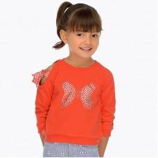 Толстовка с длинным рукавом для девочки с открытыми плечами