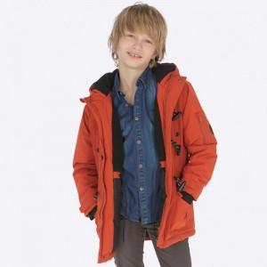 Куртка-парка на мальчика Mayoral (Майорал) терракотовый оттенок