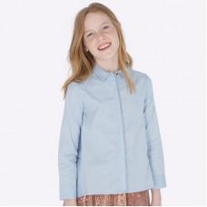 Блузка на девочку Mayoral (Майорал) оттенок голубой цвета неба