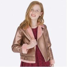 Куртка-косуха на девочку Mayoral (Майорал ) медного  оттенка
