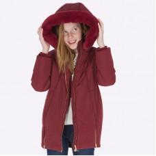 Пальто Mayoral (Майорал) для девочек рубинового оттенка