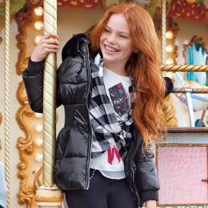 Зимняя куртка на девочку Mayoral (Майорал) темного оттенка