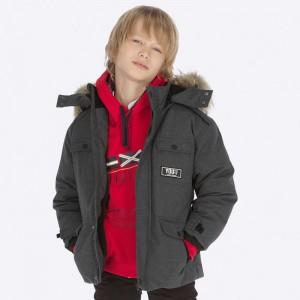 Зимняя куртка на мальчика Mayoral (Майорал) серый оттенок