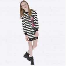 Платье на девочку Mayoral (Майорал) черно-белое