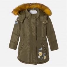 Куртка-парка на девочку Mayoral (Майорал) оливковый оттенок