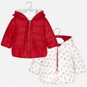 Куртка на девочку Mayoral (Майорал) красного оттенка